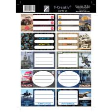 Füzetcimke (T-Creatív Mintás 21 Giants 25ív/Csomag)