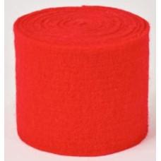 Gyapjú Filc Zománc Rostokkal Piros 7,5cm x 2,5m