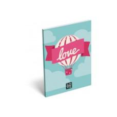 Notesz L-C Papír Fedelű A/7 Love Ballon