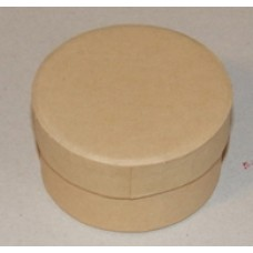 Papírdoboz Kerek Natúr 6*3,5cm