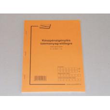 B.D.12-50/V Kp.Igénylés Üzemanyag Előlegre A/5 25*2 Nyomell