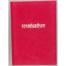 Vendégkönyv A/4 U.Plüss Feliratos Piros