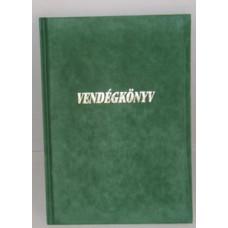 Vendégkönyv A/4 U.Plüss Feliratos Zöld