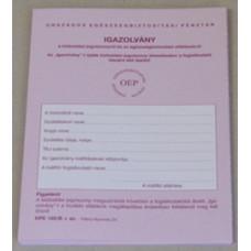 B.Kpe 160/A OEP Tb.Igazolvány